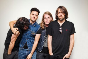 Above: Árni Árnason with the rest of The Vaccines