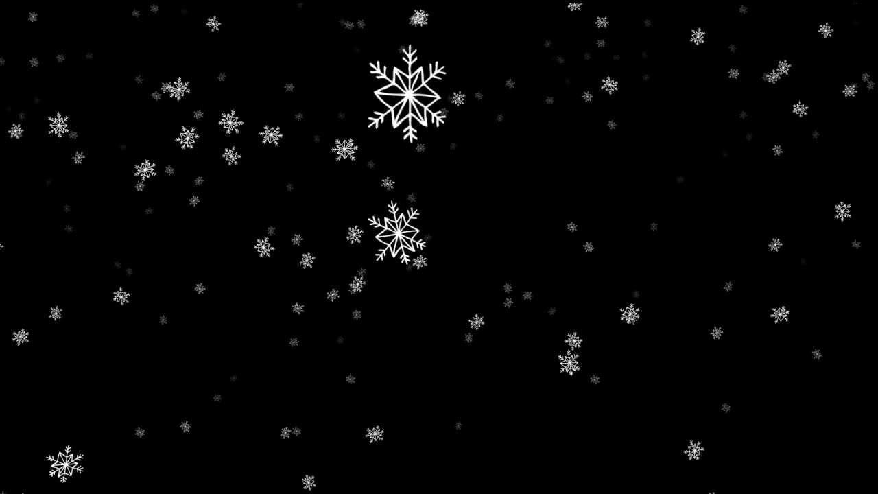 Гифка снега без фона