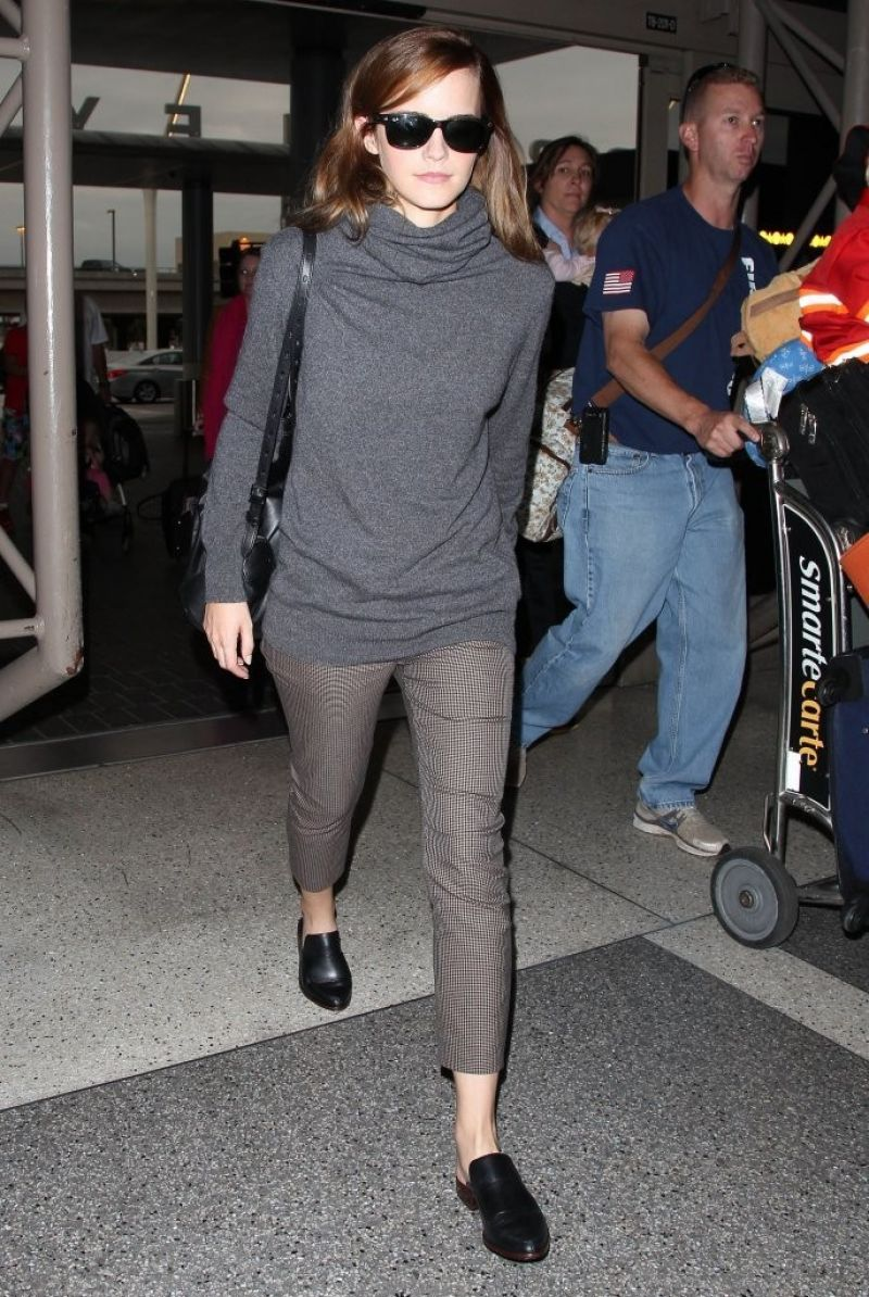 Departures arrivals the phenomenon of airport style motley magazine Emma watson fashion and style