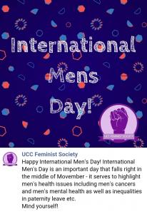 UCC Feminist Society for International Mens' Day