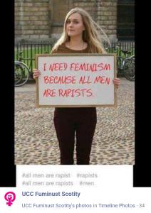 Parody account uploads photo denouncing feminism