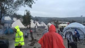 Moria: refugee camp on the Greek Island of Lesvos