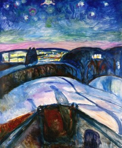 Munch's 'Starry Night.'