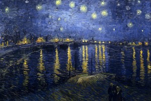 Van Gogh's 'Starry Night Over the Rhone.'