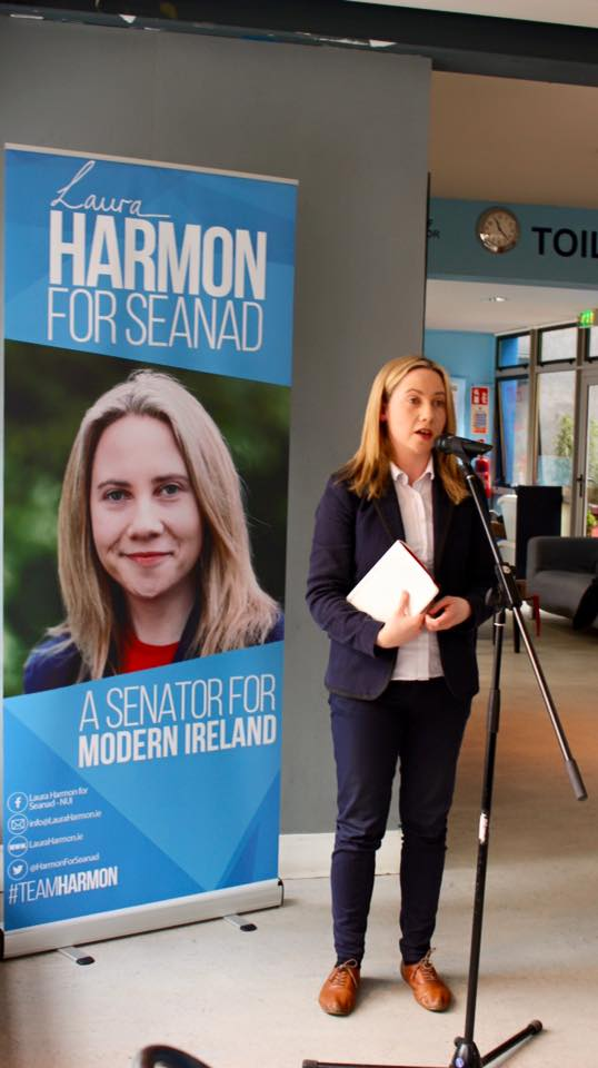 Laura Harmon launches Cork campaign at UCC's Student Centre
