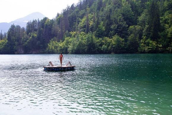 Pop-Up Deck Lake Intervention, Tara Mountain, Serbia 2015