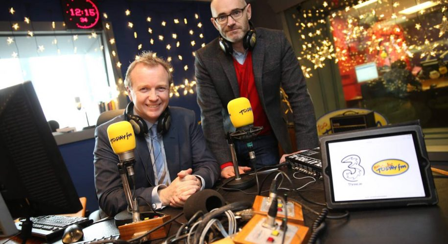 REPRO FREE. 29 November 2013.  Murray Consultants. Sponsorship Announcement of Three and Today FM.  Picture Jason Clarke Photography.