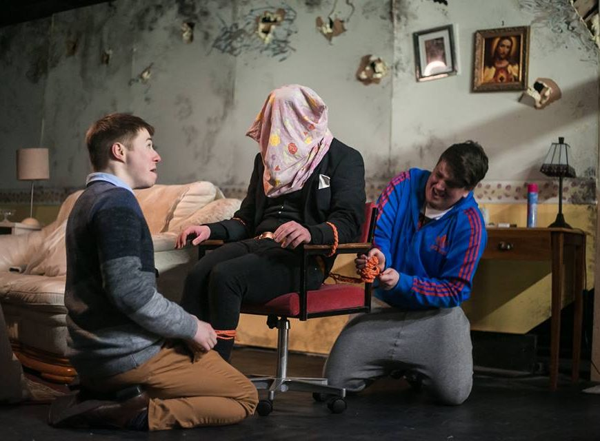 Opening Scene of Will it Fit in the Van with Alan Mooney, Darragh Keating and Patrick Lehane, Photography by Hayley Stuart